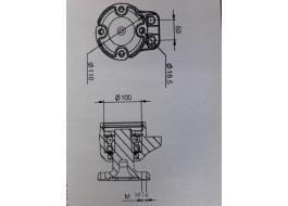 ESS-548 Piasta pojedyńcze uszczelnienie fi 100